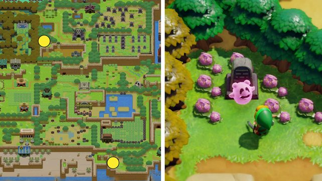 Die Karte zeigt euch die beiden Orte, zu denen ihr den Geist führen müsst.