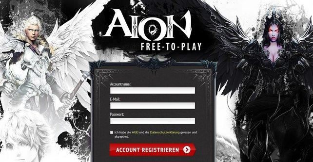 Inzwischen könnt ihr euch kostenlos bei Aion anmelden.
