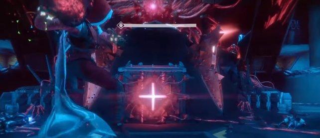 Diese SIVA-Knoten müsst ihr mit den Bomben zerstören, um Aksis im Raid zu schaden.