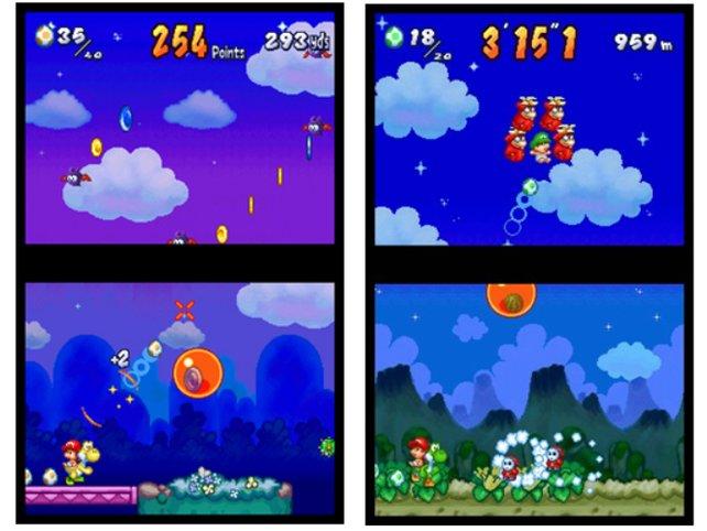 Yoshi Touch & Go (DS, 2005) geht es ganz genauso. Immerhin rückt er die Steuerung per Stylus in den Mittelpunkt der Spielmechanik.