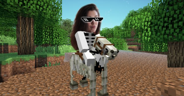 Unsere Redakteurin Chiara ist mit ihrem Skelettpferd die coolste