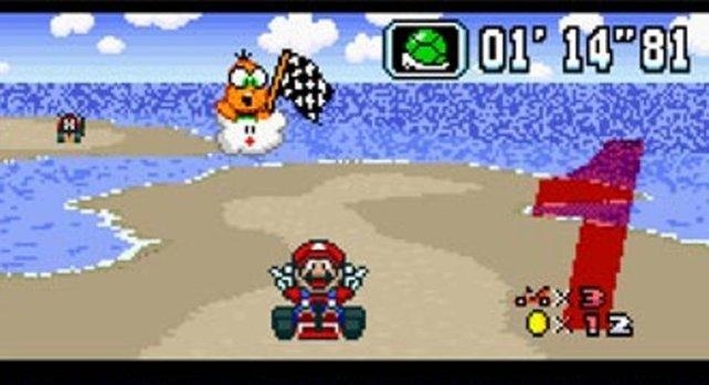Sehen wir Mario hier von vorne? Das schon, aber die Kamera hat sich nicht um ihn gedreht. Das Spiel zeigt euch einfach ein anderes Sprite.