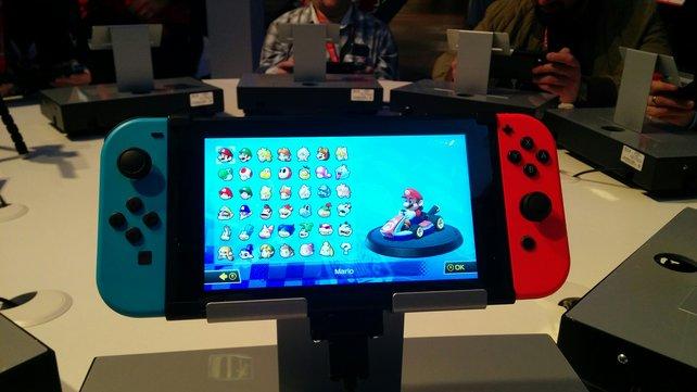 So sieht sie also in Natura aus, die lang erwartete Nintendo Switch.