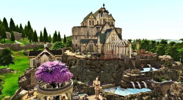 Die Stadt Weißlauf: Sarina_Sims baute den Skyrim-Schauplatz in Die Sims 4 nach.