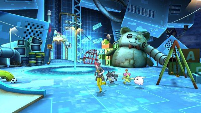 Im digitalen Eden-Universum bekämpft ihr Digimon und erkundet die einzelnen Bereiche.