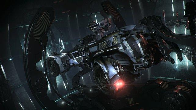 Das Batmobil ist mit unterschiedlichen Funktionen und Waffen ausgestattet - darunter auch Maschinengewehr und Raketenwerfer.