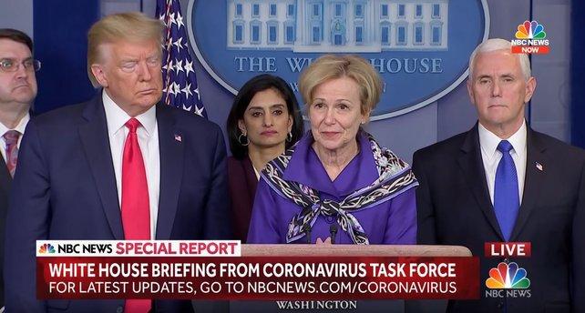 Koordinatorin des Coronavirus-Teams Dr. Deborah Birx ist neuerdings auch Speedrun-Fan. Quelle: NBC News.