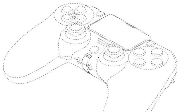Eine Skizze des DualShock 5 aus einem Patent von Sony.