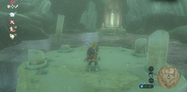Von den Statuen in den Quellen erhaltet ihr die Schrein-Aufgaben.