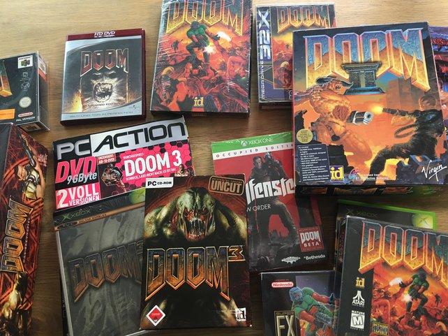 Doom wohin das Auge blickt: ein Auszug aus der Sammlung von Onkel Jo. Wer mehr sehen will, sollte unbedingt das am Anfang der Kolumne verlinkte Video anschauen.