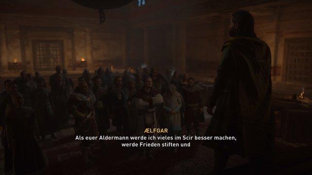Habt ihr euch für Aelfgar oder Hunwald als Aldermann entschieden, kommt es zum Konflikt mit Bischof Herefrith.