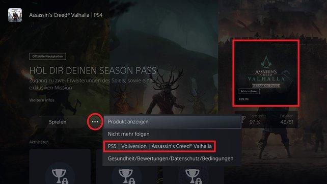 Für alle Spiele funktioniert das PS5-Upgrade gleich.