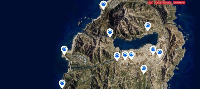 Das sind alle Standorte der Bunker.