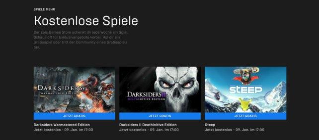 Im Januar könnt ihr im Epic Games Store gleich drei kostenlose Spiele ergattern!