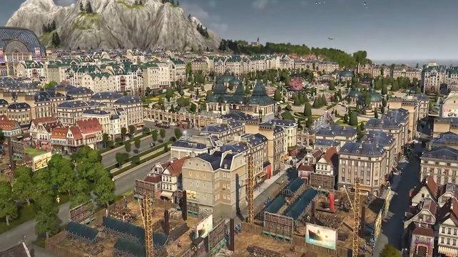 Anno 1800 Investoren: Die Gebäude der höchsten Bevölkerungsstufe prägen das gesamte Stadtbild positiv.