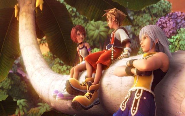 Kairi, Sora und Riku mögen sich.