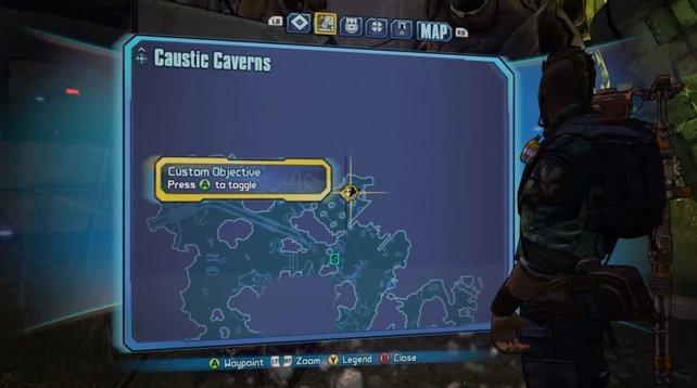 Folgt dem Pfad, bis ihr ganz im Norden der Karte angekommen seid und den zweiten Schalter findet.