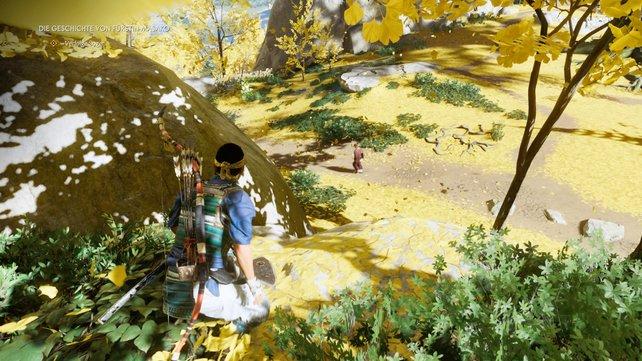 Späht den Goldenen Tempel aus und behaltet unbemerkt Sogen im Blick, der sich auf den Weg macht.