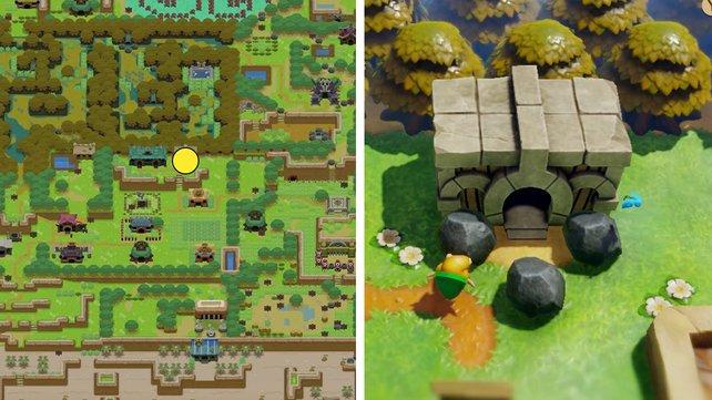 Das ist der Eingang zum Traumschrein in Zelda: Link's Awakening.