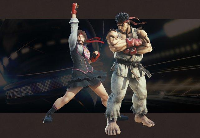 Zwei neue Herausforderer betreten die Arena: Ryu und Sakura spielen jetzt in Monster Hunter - World mit. (Quelle: monsterhunterworld.com)