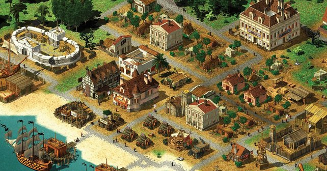 In Tropico 2 müsst ihr eine zweigeteilte Insel errichten – mit einem Vergnügungsviertel für die Piraten und einem Gefangenenlager für die Arbeiter.
