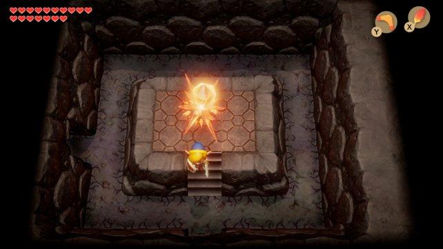 Der Kristallschalter ist gut versteckt und könnte euch Probleme bereiten. Markierungen können in diesem Dungeon sehr hilfreich sein.