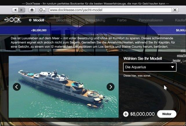 Aquarius 8.000.000 $