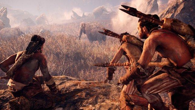 Far Cry Primal: In eurer ersten Mission jagd ihr ein kleines Mammut.