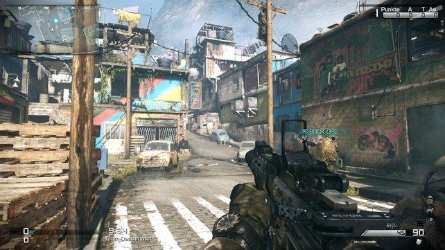"""Das unübersichtliche """"Favela""""-Ghetto erstreckt sich über Anhöhen und mehrere Stockwerke."""