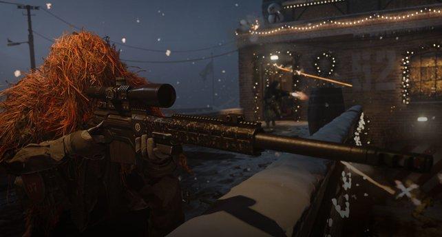 Schneeballschlachten in Call of Duty: Modern Warfare.