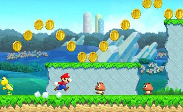 Mario lässt sich wie gewohnt sehr präzise steuern.