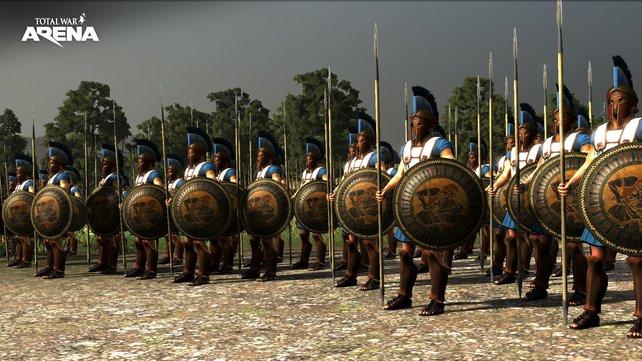 Die griechischen Truppen warten auf ihren nächsten Befehl.