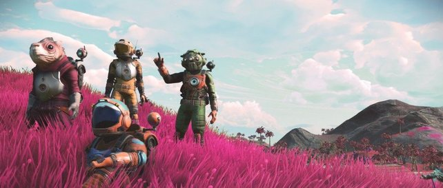 Bis zu drei eurer Freunde lassen sich momentan mit auf die kosmische Reise nehmen.