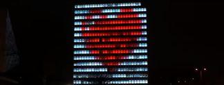 "1.700 Zoll ""Monitor"": Studenten machen Hochhaus zum Bildschirm"