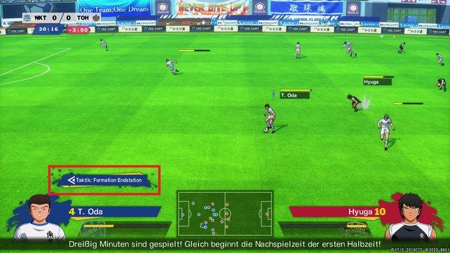 Ob die Formation Endstation aktiv ist, seht ihr über den Namen eurer Spieler.