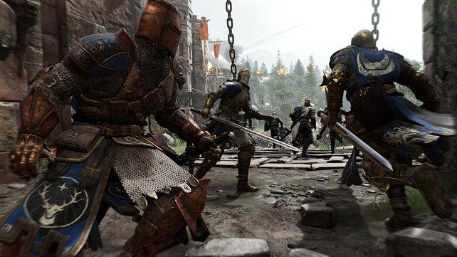 Die Rittermeute zieht in die Schlacht.