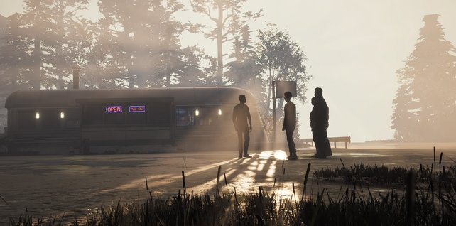 Rettet alle fünf Hauptcharaktere um den Sonnenaufgang zusehen.