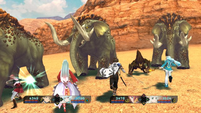 In Tales of Zestiria gibt es Gegner in allen Größenvarianten und in hoher Anzahl. Da kann es schon mal passieren, dass ihr es mit schier endlosen Horden zu tun bekommt.