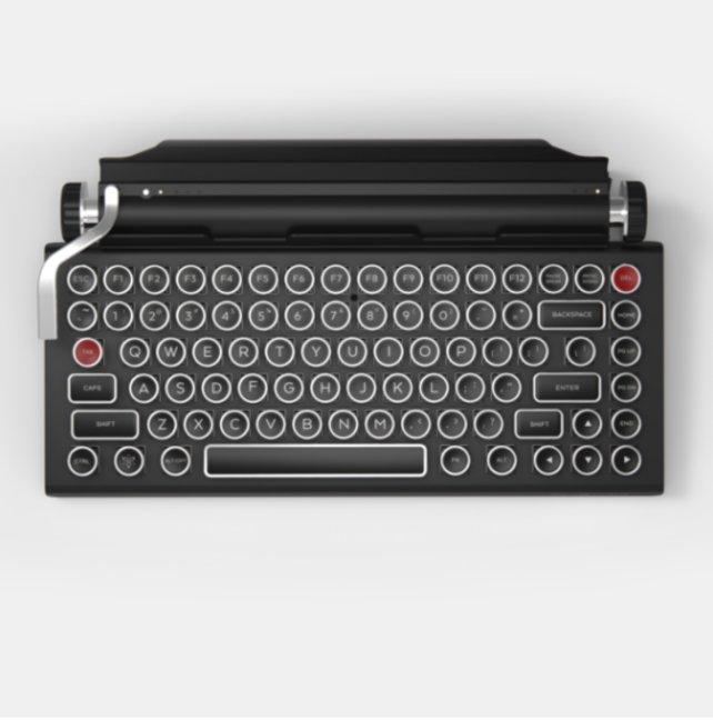 So sieht die japanische Schreibmaschinen.Tastatur aus. Am PC funktioniert sie mit Bluetooth.