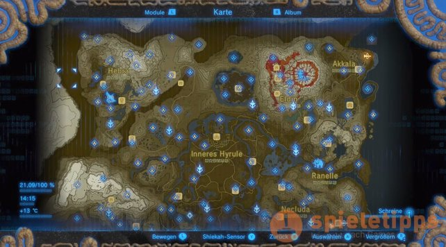 breath of the wild schreine karte Zelda   Breath of the Wild: Schreine   alle Fundorte, Tipps und