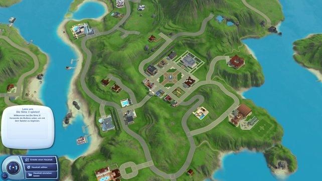 Die Sims machen es sich auf der Insel bequem.