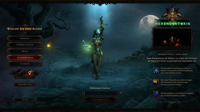 Fünf Klassen stehen euch in Diablo 3 zur Verfügung, unter anderem der Hexendoktor.