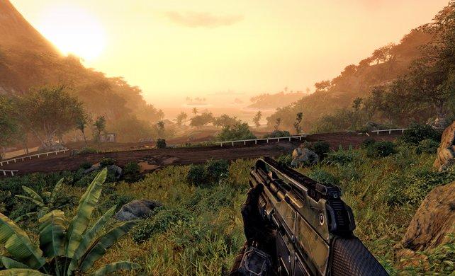 """Verschnaufpausen sind rar gesät in """"Crysis Warhead"""" - dafür entschädigt die tolle Weitsicht"""