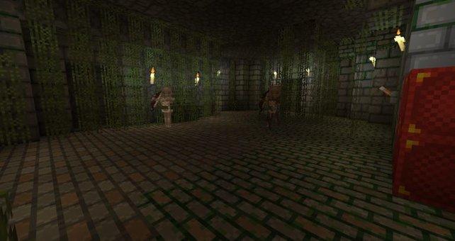 In den Verliesen dieses Levels heißen euch Zombies und Skelette herzlich willkommen.