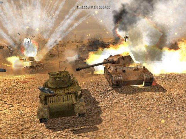 Panzerschlachten gehören zu den effektvollsten Situationen.
