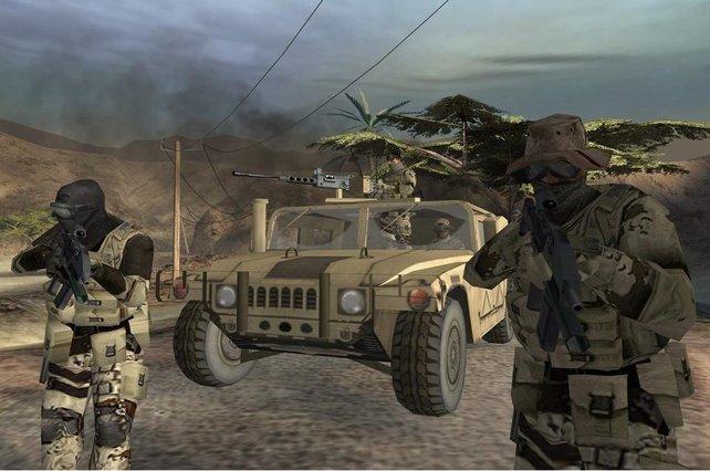 Der Humvee ist in einigen Levels von besonderer Wichtigkeit