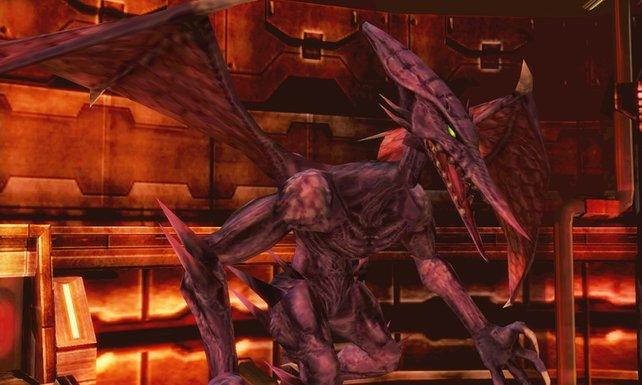 Samus' verbiesterter Erzfeind Ridley verschmäht in Notzeiten auch DOA-Kämpfer nicht.