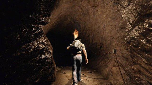 In den Höhlen ist es arg dunkel und langweilig.