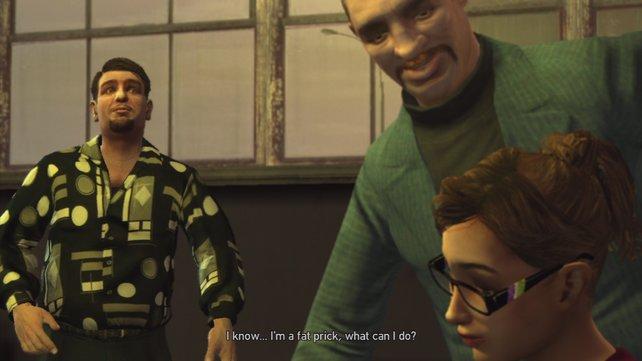 Zwischen Komik und Tragik: Zwischensequenzen verleihen Charaktertiefe (hier GTA 4).