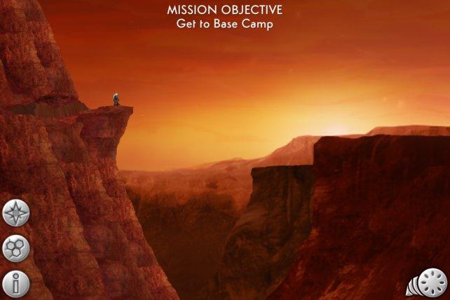 Ein herrlicher Ausblick, doch eure Mission verlangt Einsatz im Inneren des Mars.